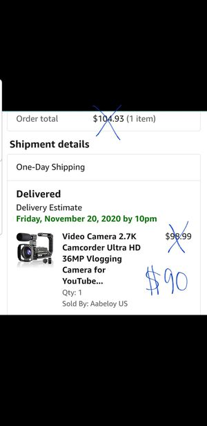 Video camera camcorder for Sale in Richmond, VA
