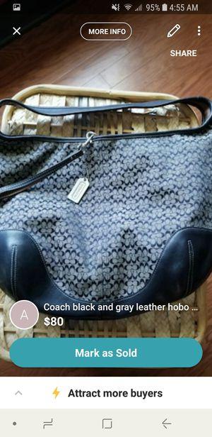 Coach Black & Grey Hobo bag for Sale in Lancaster, OH
