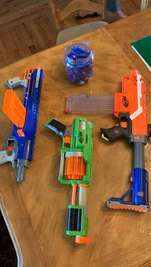 3 Nerf guns with mags and darts!! for Sale in Walnut Grove, MO