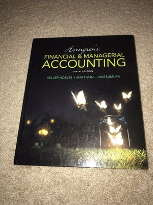 Horngren's Financial & Managerial Accounting (5th Edition) by Miller-Nobles, Mattison & Matsumura W/ FREE PENLIGHT JUST IN TIME FOR HOLDAY SEASON! for Sale in Tampa, FL