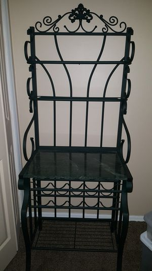 Bakers and Wine Rack Gren Marble top for Sale in Bethpage, NY