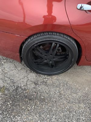 20 inch black rims and Tires for Sale in Fort Worth, TX