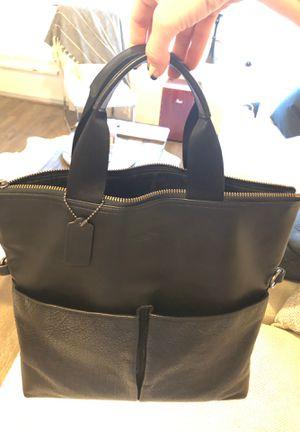 Coach metropolitan black leather bag with additional shoulder strap for Sale in Nashville, TN