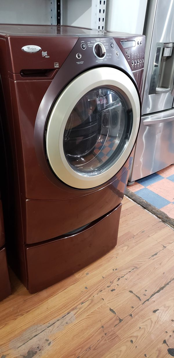 WHIRLPOOL DUET STEAM FRONT LOAD WASHER AND GAS DRYER SET