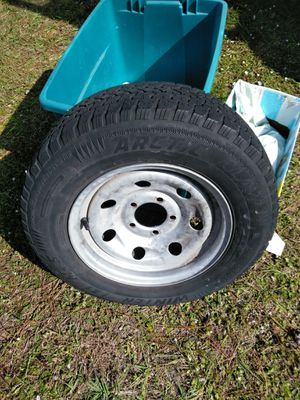 Trailer Tire and Rim 185-75-14 for Sale in Inverness, FL