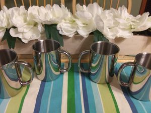 Set of 4 Coleman Exponent stainless steel mugs for Sale in Kansas City, KS