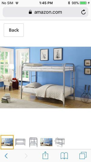 Brand New In Box Silver Twin Size Bunk Bed for Sale in Beverly Hills, CA