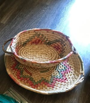 Vintage woven baskets - boho for Sale in Corona, CA