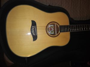 Oscar Shmidt 12 string acoutic guitar, with Levys gig bag for Sale in Anaheim, CA