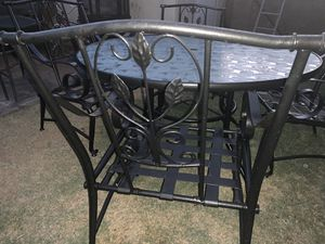 5 pieces patio table glass top table for Sale in Glendale, AZ