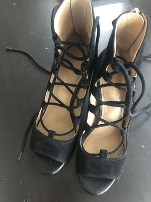Sacks 5th ave black suede heels 6.5 new for Sale in Miami Beach, FL