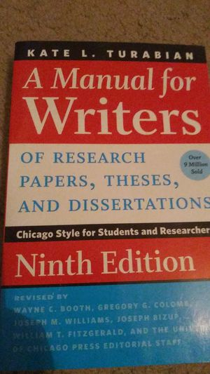 A Manual for Writers of Research Papers, Theses, and Dissertations for Sale in Gilbert, AZ