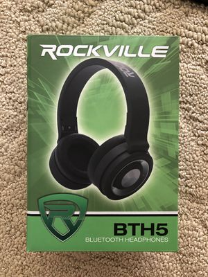 Rockville BTH5 Wireless Bluetooth Headphones w/Mic,Foldable+Detachable Cable(New OpenBox) Retail>$50 for Sale in Hilliard, OH