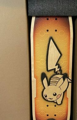 Pokémon Center × Bear Walker: Pikachu 25th Celebration Skateboard for Sale in Brooklyn,  NY