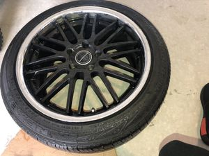 (2) 20' (2) 19' 5x4.5 All 4 rims with tires. Tires in great shape. for Sale in Dickinson, TX
