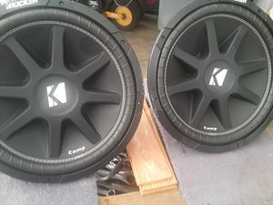 15 inch kciker subwoofers for Sale in Carson, CA