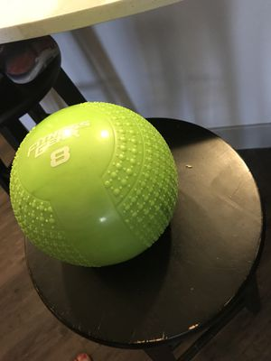 8lb Medicine Ball and 2 5lb hand weights for Sale in Austin, TX