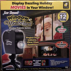New Star Shower WINTER Wonderland Indoor Projector Christmas & Halloween 12 Movies for Sale in Visalia, CA