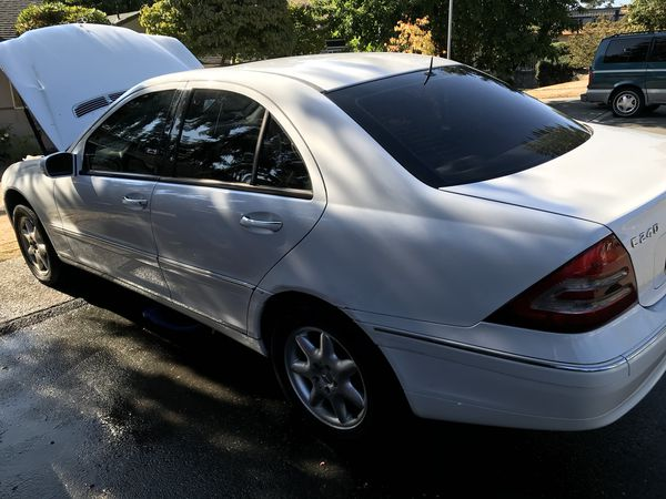 2001 Mercedes C240 4door  White  Automatic  151,000 miles for Sale in  Shoreline, WA - OfferUp