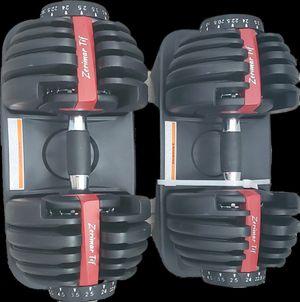 Adjustable Dumbbells Pair 5 LB~ 52.5 LB / 2.5 to 24 kg for Sale in Riverside, CA