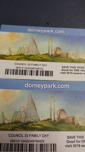 Two 2019 one day pass $30 a piece for Sale in Philadelphia, PA