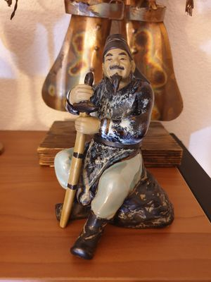 porcelain chimese figure sit on the rock for Sale in ROWLAND HGHTS, CA