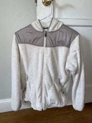 Women's white North Face zip up jacket for Sale in Lakewood, CA