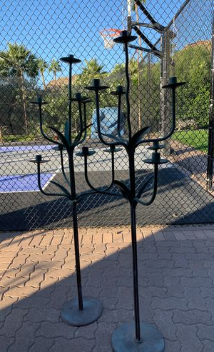 Two iron candelabras for Sale in Paradise Valley, AZ