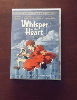 Whisper of the heart dvd for Sale in Chandler, AZ