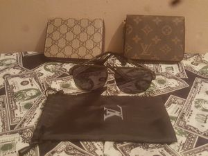Gucci and Louis Vuitton wallets, glasses for Sale in Rosedale, MD