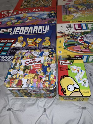 Lot of the Simpsons board and trivia games for Sale in Chicago, IL