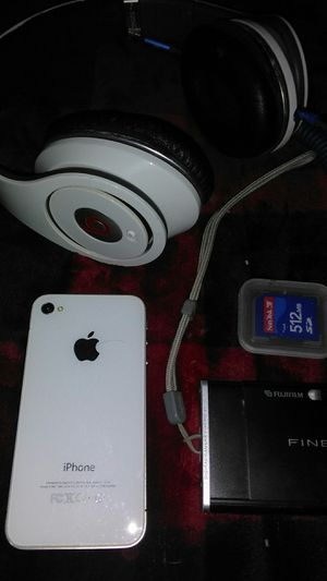 Beats head phones, iPhone, and fine pic camera for Sale in Las Vegas, NV