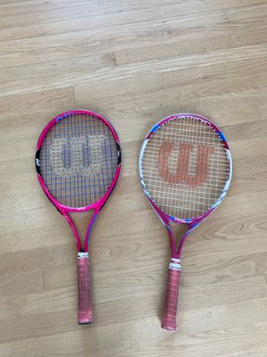 "Girl's Wilson Tennis Rackets. 25"". Good shape. Used for 2 seasons while learning. $15 each for Sale in Seattle, WA"