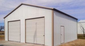 New 30' x 31' x 12' Vertical Steel Building Garage for Sale in Scituate, MA