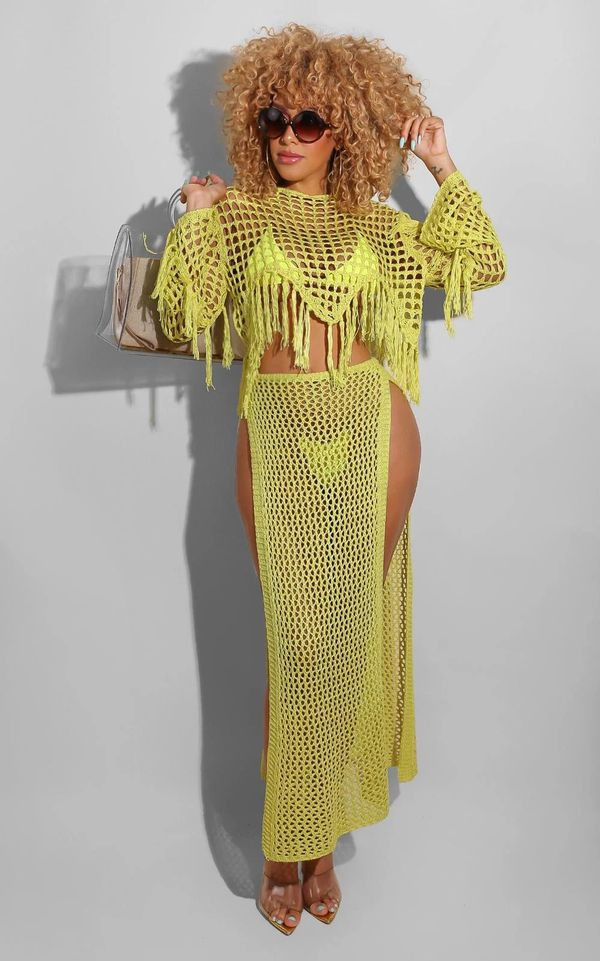 Fringe Vibe Set Yellow