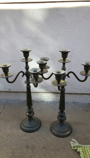Pair of brass large candelabras for Sale in Imperial Beach, CA