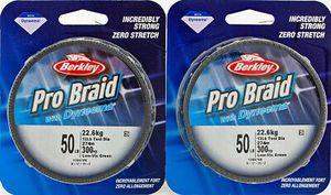 2 Berkley Pro Braid W Dyneema 300 Yd BPBN30050 fishing Line for spinning, baitcaster, or baitcast reel for Sale in Buckeye, AZ