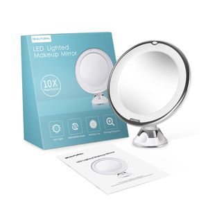 Brand-new!!! 10X Magnifying Makeup Vanity Mirror With Lights, LED Lighted Portable Hand Cosmetic Magnification Light up for Sale in Doral, FL