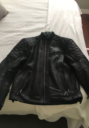 Triumph Leather motorcycle Jacket size Large 300$ OBO for Sale in Lakewood, CA