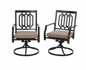 MF Studio Outdoor Metal Swivel Chairs Set of 2 Patio Dining Rocker Chair with Cushion Furniture Set Support 300 lbs for Garden Backyard Bistro for Sale in Grand Prairie, TX