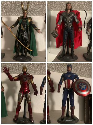 Disney Hot Toys The Avengers Action figures Iron Man Thor Captain America Loki Hawkeye for Sale in Las Vegas, NV
