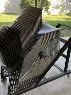 Stackable Chairs And Rolling Cart for Sale in Norwalk,  CA