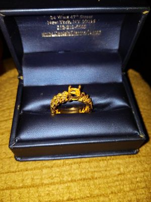 14k gold custom cuban link engagement ring. for Sale in Chicago, IL