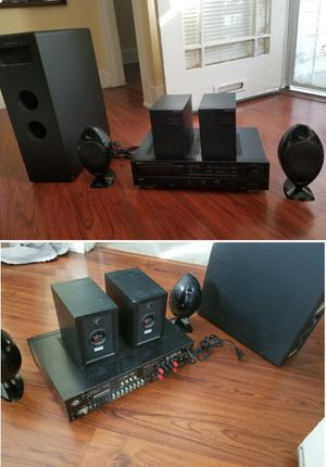 Home stereo receiver amplifier surround sound speakers subwoofer for Sale in Long Beach, CA