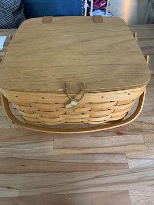 Longaberger pie basket with divider for Sale in Gresham, OR