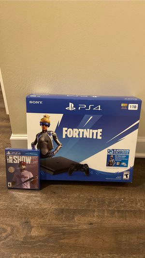 Playstation 4 slim 1TB Jet Black with THE SHOW 19 for Sale in Niles, OH