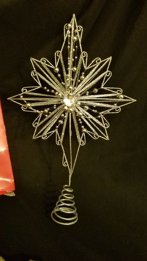 Large beaded silver tree star for Sale in Everett, WA