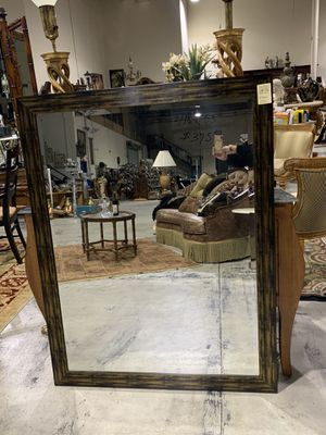 Large Wood Frame Beveled Mirror 53 in. x 41.5 in. for Sale in West Palm Beach, FL