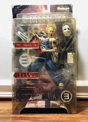 Eminem Slim Shady Action Figure Toy Chainsaw Art Asylum for Sale in Lunenburg, MA