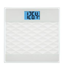 Better Homes & Gardens Digital Bathroom Scale/White 3D Diamond Pattern for Sale in Garland,  TX